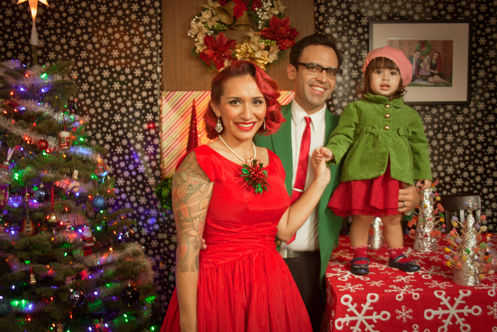 A Very 50's Christmas with the Pachecos! — Firebird Photography