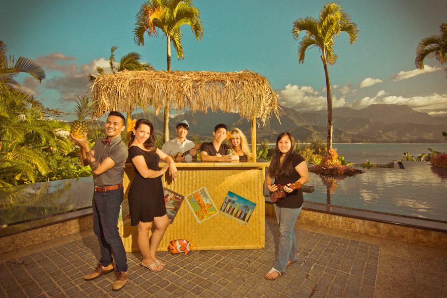 May 2012 -- flown to Kauai to shoot 80+ couples in our signature vintage style!