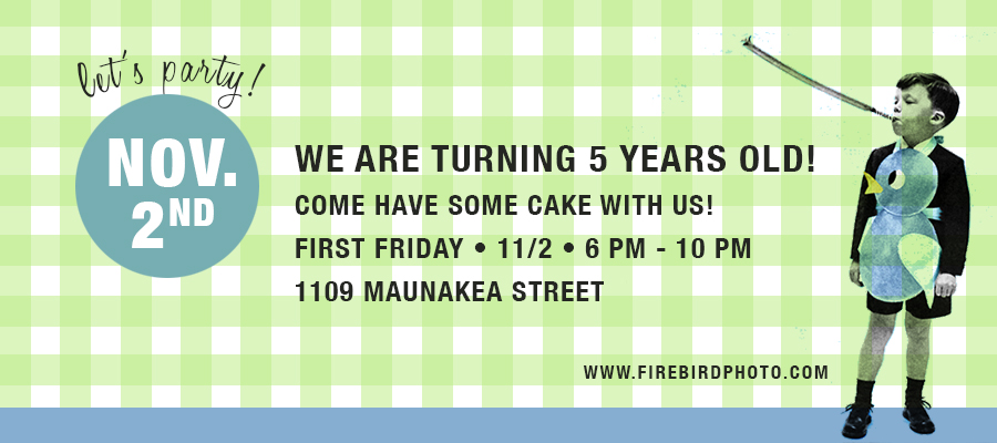 Friday, November 2. 6pm-10pm. 1109 Maunakea Street