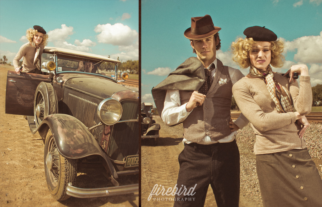 bonnie and clyde by firebird photography