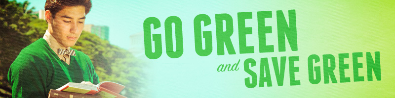 go green, save green