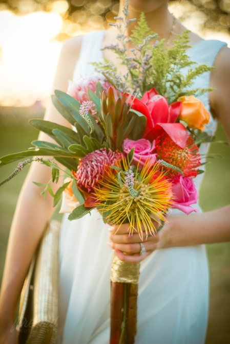 The bride's handmade bridal bouquet